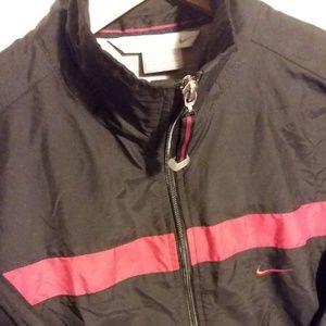 Nike Men's Full Zip Windbreaker Black/Red Sz Med